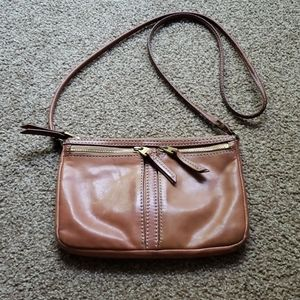 Fossil leather cross body